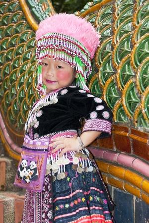 Baby girl Mountaineer of Thailand Stock Photo - 11215632