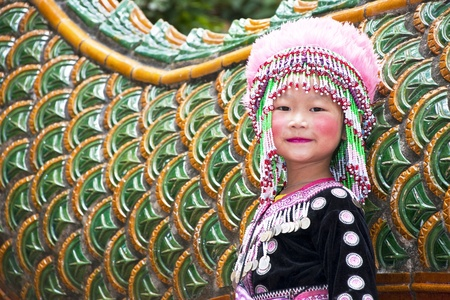 Baby girl Mountaineer of Thailand Stock Photo - 11215638