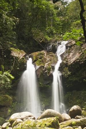 Waterfall in forest . Waterfall is a place that will make you relax and fresh . in Nan Province of Thailand photo