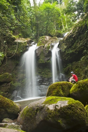 Waterfall in forest . Waterfall is a place that will make you relax and fresh . in Nan Province of Thailand Stock Photo - 11389642