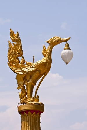 Thai street lamp photo