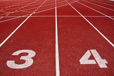 Running track numbers in front  photo