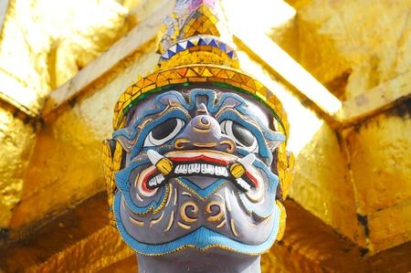 Giant face in Wat Phra Kaew in Bangkok,Thailand Stock Photo - 11990189