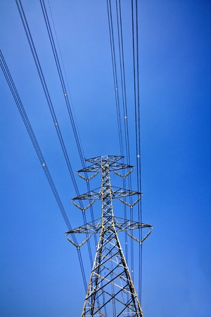 High voltage power pole photo