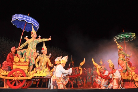 thai dance: Khon-Thai culture drama dance show