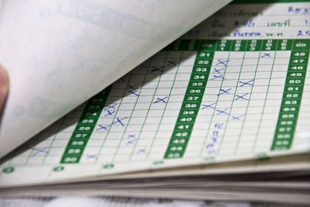 Test score sheet with answers  Stock Photo - 12734519