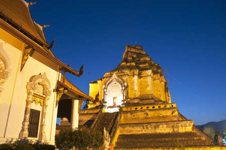 Wonderful Pagoda Wat Chedi Luang Temple,  Chiang Mai, Thailand photo