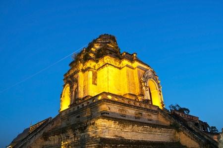 Wonderful Pagoda Wat Chedi Luang Temple,  Chiang Mai, Thailand photo