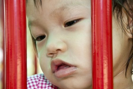 Asian Kid Playing In Playground Stock Photo - 13249294