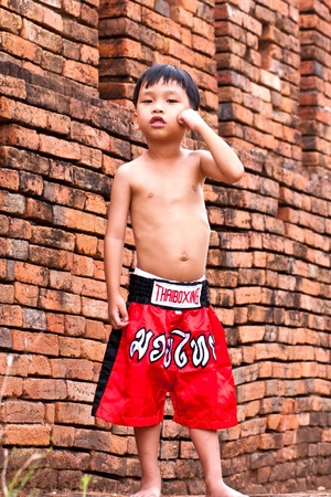 Thai people in the history use Muay Thai for fought and protection  photo