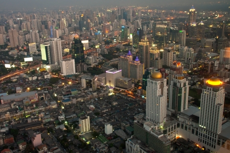 Aerial view of Bangkok from Baiyoke Sky Tower photo