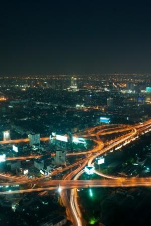 Bangkok and express way view point from Baiyok building Stock Photo - 13611945