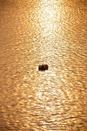 ripples in gold water photo