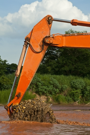 excavator loader bucket photo