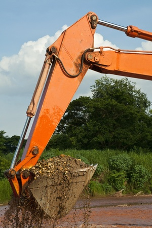 excavator loader bucket Stock Photo - 13784840