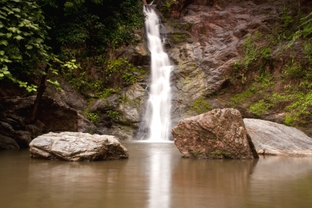 environmen: Waterfall in forest   Waterfall is a place that will make you relax and fresh   in Nan Province of Thailand