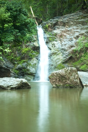 Waterfall in forest   Waterfall is a place that will make you relax and fresh   in Nan Province of Thailand Stock Photo - 13927401