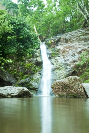 Waterfall in forest   Waterfall is a place that will make you relax and fresh   in Nan Province of Thailand Stock Photo - 13927402