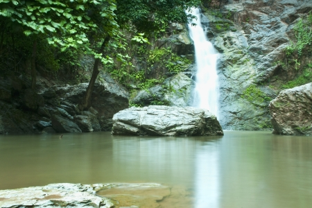 Waterfall in forest   Waterfall is a place that will make you relax and fresh   in Nan Province of Thailand Stock Photo - 13927398