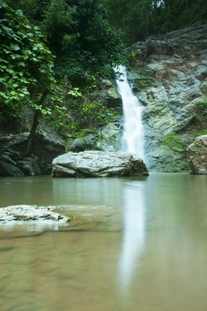Waterfall in forest   Waterfall is a place that will make you relax and fresh   in Nan Province of Thailand Stock Photo - 13927404