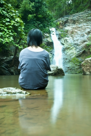 Waterfall in forest   Waterfall is a place that will make you relax and fresh   in Nan Province of Thailand Stock Photo - 13921952