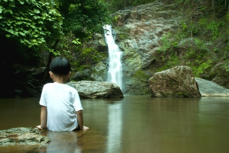 Waterfall in forest   Waterfall is a place that will make you relax and fresh   in Nan Province of Thailand Stock Photo - 13921938