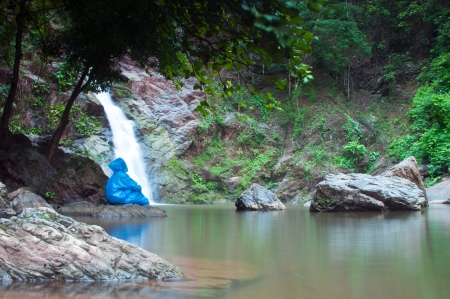 Waterfall in forest, Waterfall is a place that will make you relax and fresh   in Nan Province of Thailand Stock Photo - 14289335