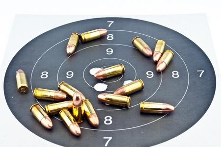9mm Luger Ammunition on target photo