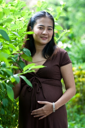 obgyn: beautiful pregnant mother to be
