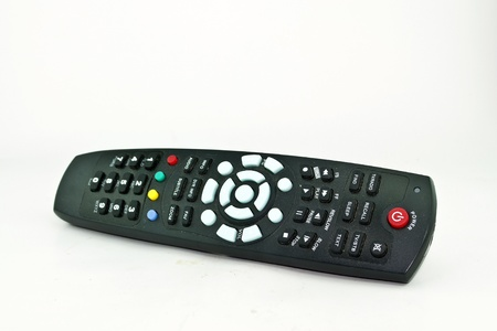 remote controls on the white background photo
