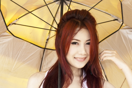 Beautiful young Asian woman photo