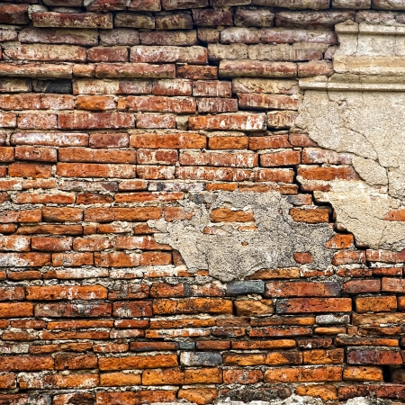 cracked brick wall  Square size  photo
