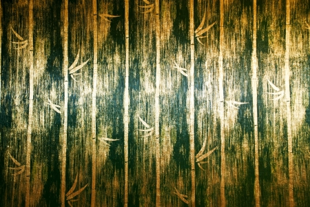 green bamboo wall texture In Bed room Thai Lana style photo