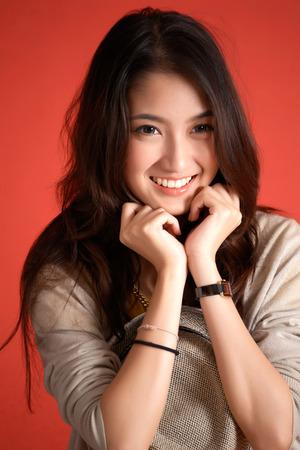Young Asian cute woman photo