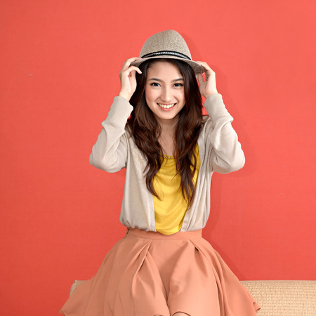 Young Asian cute woman photo