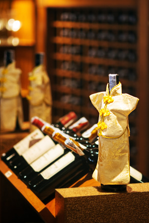 rack arrangement: wine cellar cabinet in luxury restaurant