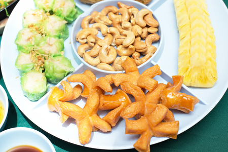 jock: appetizer With Jock shell crab , hot dogs and pineapple - thai food