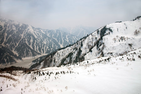 moutains: Japan Alps , Winter moutains with snow.Takayama Gifu, Japan