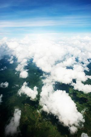 cumuli: Cloudscape. Blue sky and white cloud. Sunny day. Cumulus cloud .