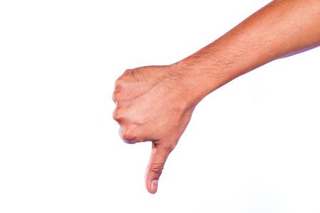 unlike: Hand unlike isolated on white background. concept. Stock Photo
