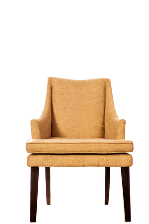 cosy: Wooden brown Chair Isolated on White