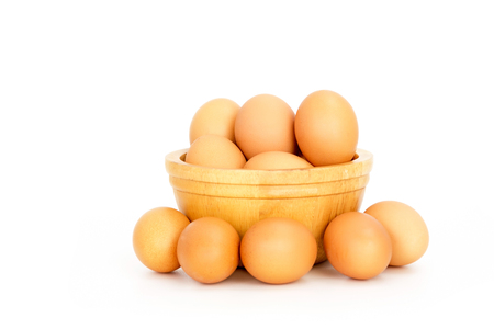 Egg, Chicken Eggs in  a bowl isolate on white