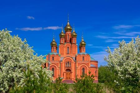 sobor: Achairsky monastery. Sobor Uspeniya Presvyatoy  Bogoroditsy. Stock Photo