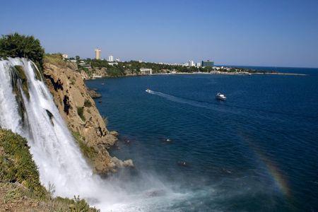 The falls beginning in Antalya, running into Mediterranean sea photo