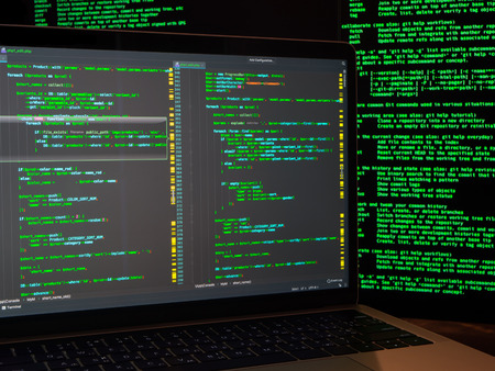Using malicious code or virus program for cyber anonymus attack. Identity theft and computer crime Stok Fotoğraf