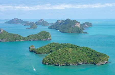 Angthong National Marine Park in the Gulf of Thailand. Archipelago of islands in Southern Thailand Ang Thong Islands Stock Photo
