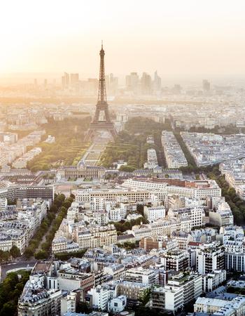 alley: Eiffel Tower in Paris during sunset