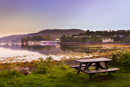 Portree colorful houses - Isle of Skye Stock fotó