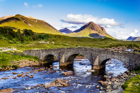 scottish highland stone bridge Stock Photo