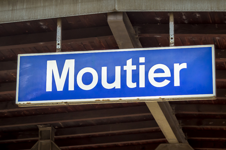 Moutier Village Sign - Switzerland